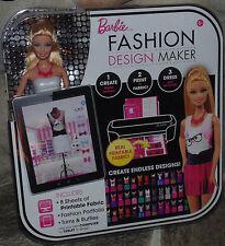 Barbie Fashion Design Maker Set - Incl Printable FAbric, Trims, Ruffles use w PC