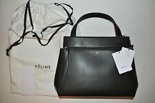 Céline Palmelato Calfskin Leather Medium Edge Shoulder Bag in Forest Green