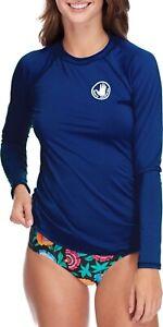 Womens Body Glove UPF 50 Sleek Long Sleeve Rashguard Navy Blue XS
