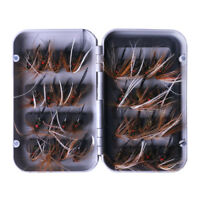 32Pk Fishing Flies Dry Wet Fly Fishing Lure Bait Hooks for Bass Salmon Trout Fly
