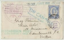 Stamp Tonga 1937 tin can outwards cover to Camberwell Victoria Australia cachet