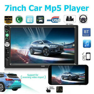 Double 2 Din 7in Android 8.1 Car Stereo MP5 Player FM Radio Touch Control