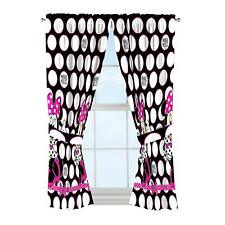 4 Piece Disney Minnie Mouse Childs Bed Room Window Curtain Drapes Panel Tie