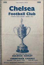More details for dulwich hamlet v corinthian casuals fa amateur cup semi final 1956 @ chelsea