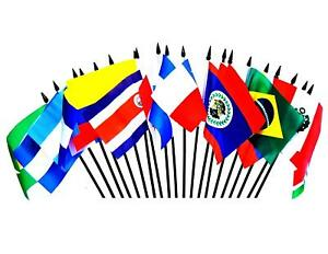 """CENTRAL & SOUTH AMERICA FLAG SET--One Polyester 4""""x6"""" Flag for Each Country"""