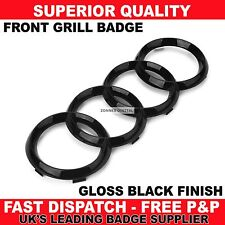 Black Gloss Front Grille Badge Ring Logo Emblem Audi A3 S3 RS3 A4 A5 A6 273x94mm