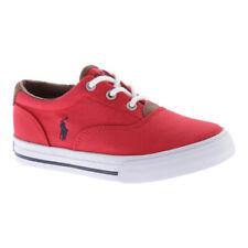 Polo Ralph Lauren Unisex Children's  Vaughn II Canvas Sneaker - Big Kid Red