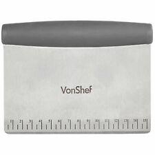 VonShef Dough Scraper Cake Pastry Preparation Tool Slicer Cutter Measuring Guide