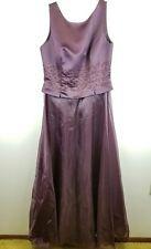 JS Boutique Sequined Gown Dress 12 (Plum) Purple Bridesmaid Mothe of Bride Prom