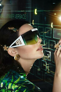 NEW Genuine VERSACE Runway Medusa Icon Shield +3 Lens Sunglasses VE 4393 401/1W