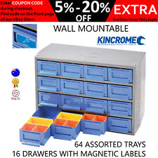 New KINCROME CABINET NUTS BOLTS STORAGE Garage Shed 16 Drawer Organizer K7640