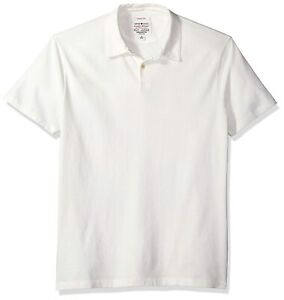 Neuf Lucky Brand Hommes en Daim Vintage Chamallow Polo Coton T-Shirt XL