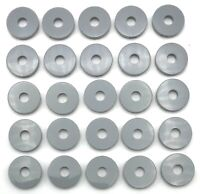 Lego 25 New Light Bluish Gray Tiles Round 2 x 2 with Hole Pieces