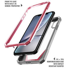 For iPhone XR Case Poetic Hybrid Bumper&Built-in-Screen Protector-【Guardian】Pink