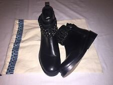 Women's TORY BURCH Black Biker Ankle  Boots SZ 5.5