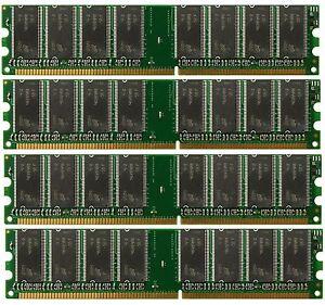 NEW! 4GB 4x1GB PC3200 DDR400 400Mhz 184pin DIMM Desktop Memory DDR High Density