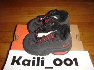 Nike Baby Air Max '95 Size 2.5c Black Comet Red Neon 650185-063 1999 B