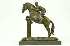 "Red Rum"" Racing Horse & Jockey Bronze Statue Handcrafted Detailed Decorative"