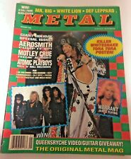 🤘 CREEM METAL MAGAZINE January 1990 SOUNDGARDEN QUEENSRYCHE OZZY AEROSMITH