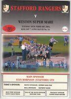 Stafford Rangers v Weston Super Mare 2003/4 Dr Martens League