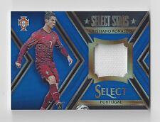 2015 Panini Select Soccer Cristiano Ronaldo Select Stars Jersey Blue Prizm #/99