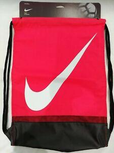 Nike Football / Gym Sack School Training Gym Bag, Red White  NEW