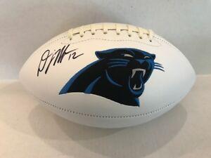 DJ Moore Signed Carolina Panthers White Panel Football COA Hologram