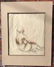 Original Balinese Figure Drawing By New York Artist Maurice Sterne. Signed C1930