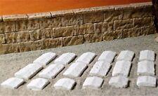 Krippenbau - Ruinenbau, Ruinenstein - Abdeckplatten (Firstform) 18St. !!NEU!!