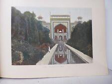 Inde : Gravure 19° in folio couleur / Agra: Entrée du Tady Mahal