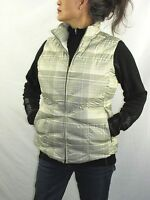 Patagonia New Goose Down 600 Fill Plaid Vest with Hood Sage Gray Wo's M NYZ10