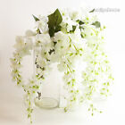 1Pc Wisteria Silk Flower Home Party Wedding HouseFloral Decoration hme x