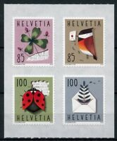 Switzerland 2018 MNH Special Events 4v S/A Set Birds Ladybirds Flowers Stamps
