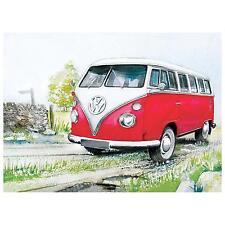 "Blechschild ""Camper"" Bulli T1 T2 T3 T4 VW Bus Volkswagen Samba 30x40cm Neu"