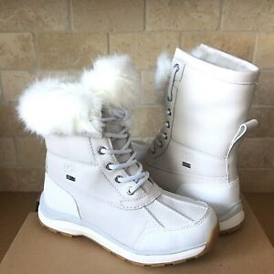 UGG Adirondack III Fluff White Waterproof Leather Snow Boots Size US 7 Womens