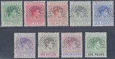 BAHAMAS 1938 KING GEORGE VI PERF SPECIMEN SET OF 9 TO £1 SG 149 157