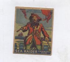 Sea Raider Goudey  1933 Gum Card Pirates #1 Captain teach (Blackbeard)