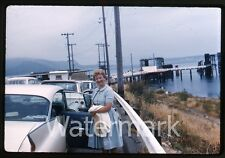 1962  Photo slide ship trip Seattle WA to Victoria Canada #7 car ferry cadillac