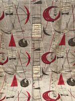4 Vintage 1950s Abstract Atomic Era Curtains Textiles Mid Century Modern Retro