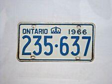 1966 ONTARIO Vintage License Plate # 235-637