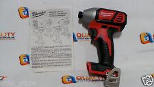 "*New* Milwaukee 2656-20 M18 18V Li-Ion 1/4"" Cordless Impact Driver - Bare Tool"