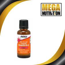 Now Foods Vitamina D3 líquida fuerza adicional de 1000 UI 30ml   Soportes Sistema inmunológico
