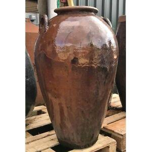 104cm CLEARANCE Brown Chinese Yakuta Water Jar Jiangsu Garden Planter/Plant Pot