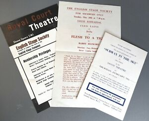 1957 & 1958 London theatre flyers or invites Cleo Laine Royal Court Savoy