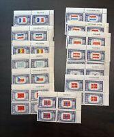 SET of U.S. Overrun Countries plate blocks, Scott # 909-921 Mint NH OG