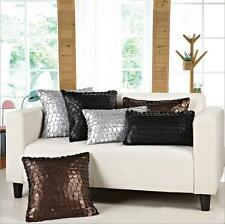 Home Decor rectangle Square Faux Leather pillow case Cushion Cover 45 cm