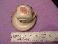 "Denby Stoneware GYPSY dusky pink flower COFFEE CUP & SAUCER 6"" diameter SAUCER"
