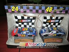 2002 Nascar Dated Collectible Ornament Jeff Gordon Jimmie Johnson