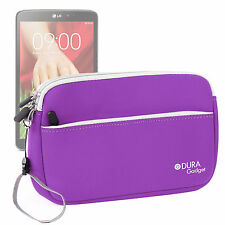 Travel Pouch-Style Case in Purple Neoprene for LG G Pad 8.3 / LG  G Pad 7.0