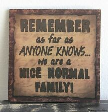 PRIMITIVE COUNTRY WOOD SIGN FAMILY HOME WALL DECOR HANDMADE FUNNY PLAQUE 0156
